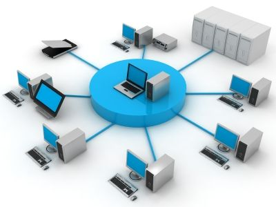 Computer network illustration